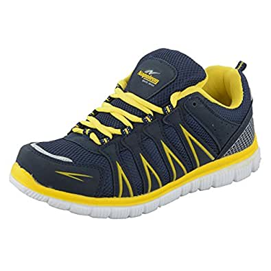 Napoleon Men's Blue and Yellow Rubber Sports Shoes -9 UK