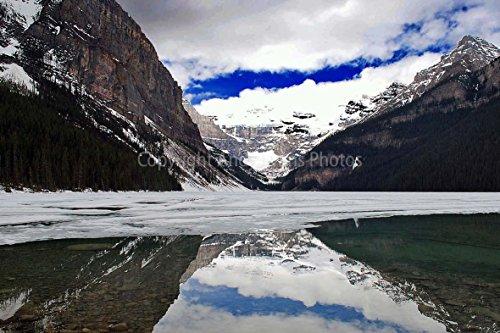 Eine 45,7x 30,5cm Fotografieren Fotodruck Lake Louise und Victoria Gletscher, Banff National Park, Alberta, kanadischen Rocky Mountains Kanada Mountain Landschaft Foto Farbe Kunstdruck Bild. Fotografie von Andy Evans Fotos