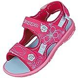 Kappa Mädchen Bloomy K Knöchelriemchen Sandalen, Pink (2266 Pink/Tuerkis), 33 EU