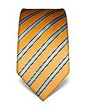 Vincenzo Boretti Herren Krawatte reine Seide gestreift edel Männer-Design zum Hemd mit Anzug für Business Hochzeit 8 cm schmal/breit gold