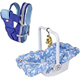 !!! Dash Launching Combo Offer !!! Multifunctional Baby Carrier (Blue) And Baby Carry Cot-7 In 1