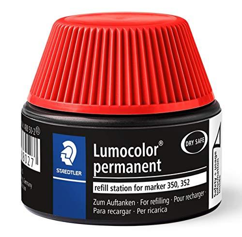 Staedtler 488 50 Lumocolor permanent marker Nachfüllstation für 350/352, 15-20x Nachfüllen, rot -