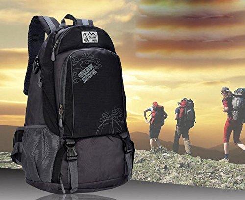 45L neue wasserdichte atmungsaktive Outdoor-Klettern Tasche Umhängetaschen für Männer und Frauen, Freizeit Reisetaschen Black