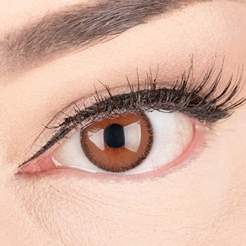 Meralens natürlich braune dunkelbraune Circle Lenses brown Mirel Choco mit 60ml Pflegemittel und Kontaktlinsenbehälter ohne Stärke 14mm Big Eyes farbige Kontaktlinsen