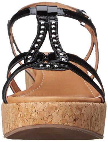 Corso Como Sandi Femmes Synthétique Sandales Compensés Black