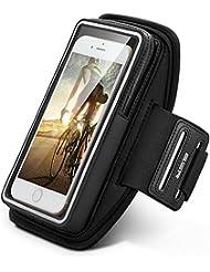 ESR Brassard Sport Smartphone Etui Armband pour le Jogging / Gym / Course avec sangle réglable compatible avec iPhone 6 / 6S, iPhone 7, Samsung Galaxy / Note, HTC, LG, Sony et les autres smartphones inférieur à 5 Pouces ( Noir )