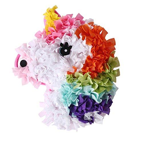 (TOYMYTOY Einhorn Plüsch Kissen Tierkissen Plüschkissen Schmusekissen DIY Dekokissen für Baby Kinder Spielzeug)