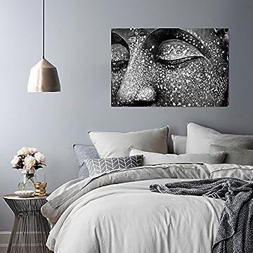 Feeby Frames, Cuadro de pared, Cuadro decorativo, Cuadro impreso, Cuadro Deco Panel, BUDA 2, BLANCO Y NEGRO 7
