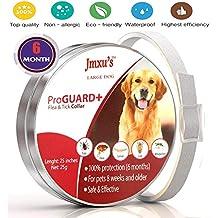 Jiewo Pulgas y garrapatas Collar para Perros, protección de 6 Meses, Collar de pulgas