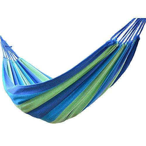 TOPFIRE portatile ad alta resistenza paracadute tessuto Amaca Hanging letto con zanzariera per esterni e campeggio tattico, Rainbow Blue