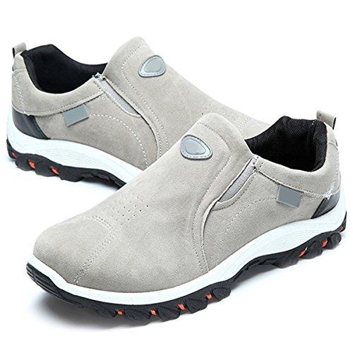gracosy Scarpe Sportive Outdoor, Scarpe Invernali Scarpe Casual Uomo Scarpe da Corsa Traspirante Scarpe da Trekking per Camminare Mocassini in Pelle Piatto Slip On Shoes