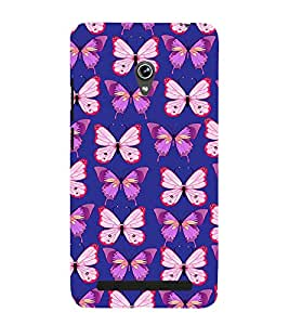 Fiobs darl blue butterfly Designer Back Case Cover for Asus Zenfone 6 A600CG
