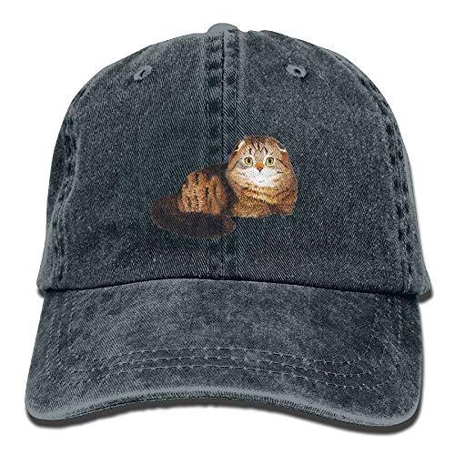 UUOnly Braune fette Katze hob Seine Augen-Katzen-Kunst gedruckte Baseballmütze-Cowboyhüte Sun-Hüte an