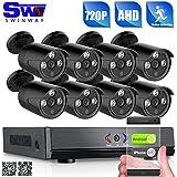 ANRAN Système de sécurité vidéo 720p HD 8CH avec 8 petits 720P caméra de surveillance de la balle aux intempéries sans disque dur, la configuration de l'accès à distance rapide avec application gratuite