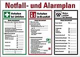 LEMAX® Notfall- und Alarmplan, mit Piktogrammen, Kunststoff, 700x500mm