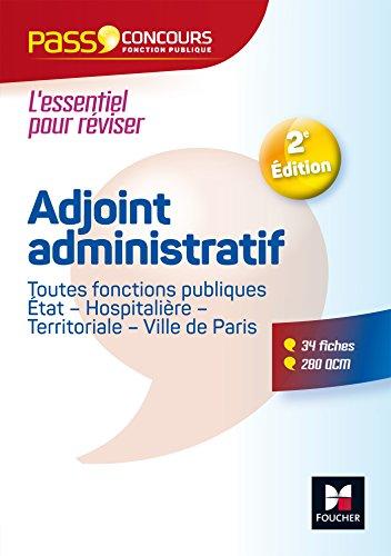 Pass'Concours - Adjoint administratif Fonction publique Etat, territoriale, hospitalire - Cat C