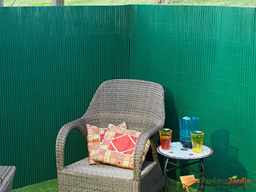 Canisse en PVC vert simple face avec fixations H1xL3m