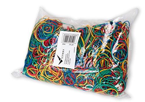 Victory Office 79000anillos de goma en bolsa, 1000g, varios colores