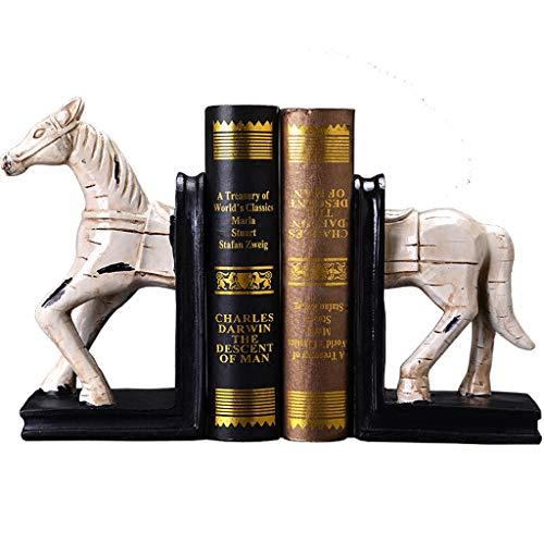 LBYMYB Nordic Retro kreative Pferd buchstützen büro Buch stall Buch für Buch Stehen Clip Home Decoration Ornamente 31x26,5x11,5 cm Bücherstand -