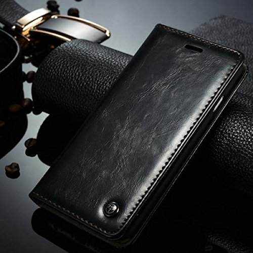 ECENCE APPLE IPHONE 6+ 6S+ PLUS (5,5) COQUE DE PROTECTION HOUSSE POCHETTE WALLET CASE + PROTECTION D'éCRAN 42040206 Noir I