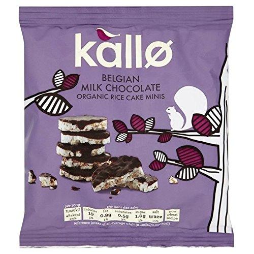 Kallo Chocolat Au Lait Biologique Gâteaux De Riz 40G Mini-
