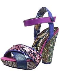 HLHN Sandali Donna Marrone Khaki 36 2/3, Rosa (Pink), 38
