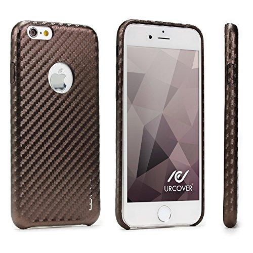 URCOVER Custodia Protettiva Carbon Look per Apple iPhone 6 Plus
