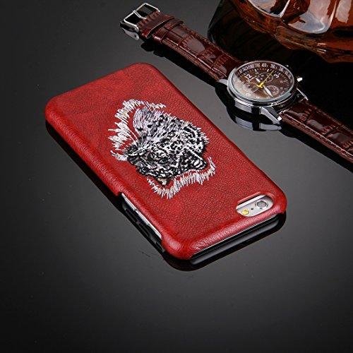 Phone case & Hülle Für iPhone 6 / 6s, Öl Haut Textur Stickerei Leopard Muster PU Paste Haut PC Schutzhülle ( SKU : IP6G0536A ) IP6G0536A