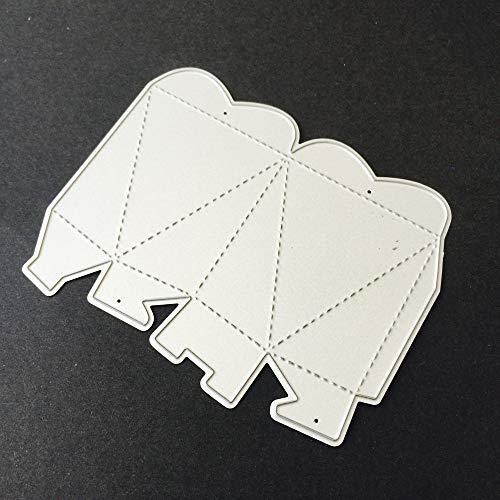 Xmiral Prägeschablonen Scrapbooking Stanzschablone,3D Geschenkbox Baumblatt Muster(B) (Happy Jumbo-karte Birthday)