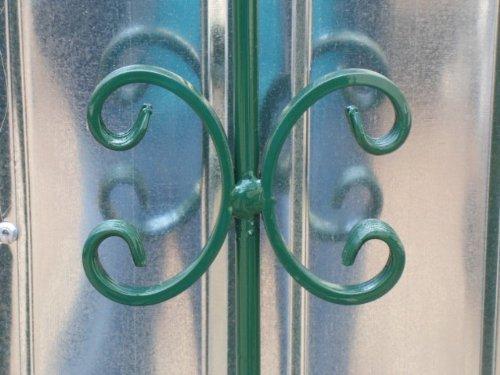 Hoftor Gartentor Pforte Tor grün mit Spitzen Breite 100cm x Höhe 150cm