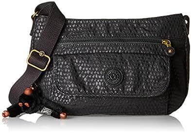 Kipling Syro, Women's Cross-Body Bag, Schwarz (Black Scarlet Emb), 31x22x12.5 cm (B x H T)