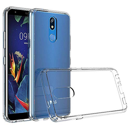AINOYA Transparent Silikon Handy Hülle für LG K40, Weiche TPU [Ultradünnen] Flexibel Bumper Handyhülle Durchsichtig Kratzfest Schutzhülle kompatibel mit LG K40 - Crystal Clear