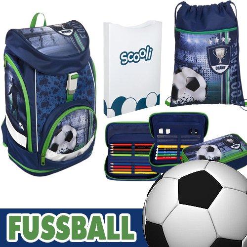 Scooli Twixter UP Schulranzen-Set 4-tlg Football FCPR football