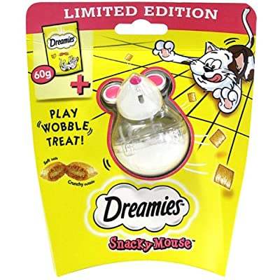 DREAMIES Snacky Mouse with Cat Treats with Cheese 60g