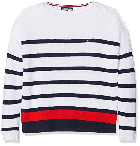Tommy Hilfiger Delightful Stripe Bn Sweater, suéter para Niñas