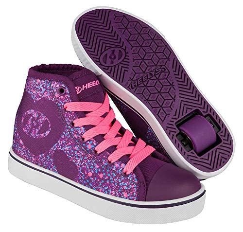 Heelys Purpur Rosa Heart Veloz Hi-Top Schuhe Mit Rollen Für Mädchen (EU 35 / US 4, Purpur) (Heelys Schuhe Für Mädchen)