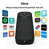 COWIN DiDa with Amazon Alexa Bluetooth Speakers, Smart Wireless Wifi Portable Bluetooth Speaker 15W Output Power with Enhanced Bass- Black 4