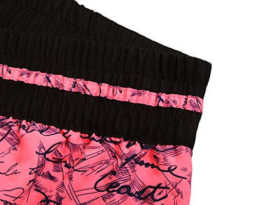 confit you - Damen Badeshorts Sport mit Schriftzug Design, XS-2XL, Viele Farben Pink