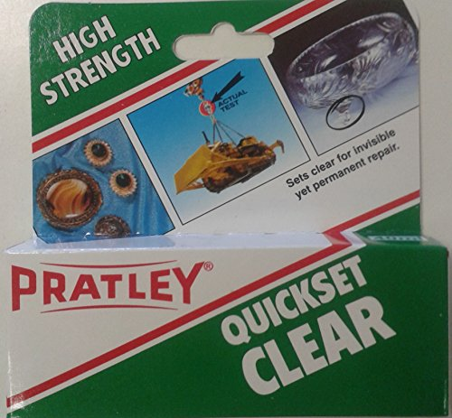 2-x-pratley-quick-set-clear-epoxy-liquid-glue-adhesive-2-x-20ml-tubes-86143-new