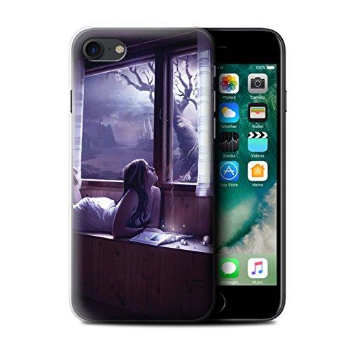 Officiel Elena Dudina Coque / Etui pour Apple iPhone 7 / Feuilles séchées Design / Art Amour Collection Distraits