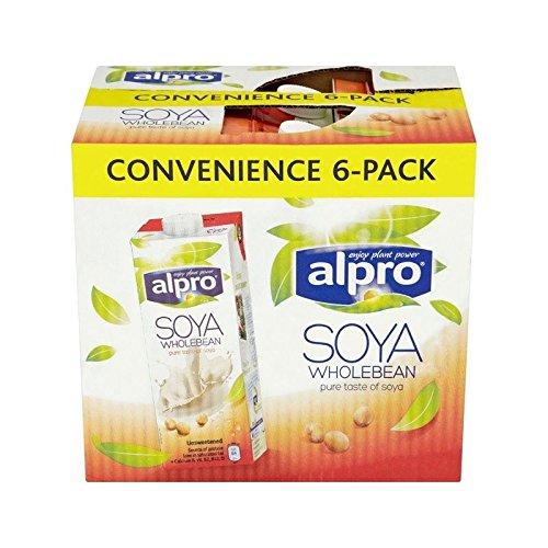 Soja Non Sucré Alternatives De Lait 6 X 1L D'Alpro - (Paquet de 6)