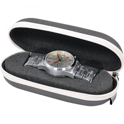 Beco, custodia da viaggio per orologi, grigio-argento e nero