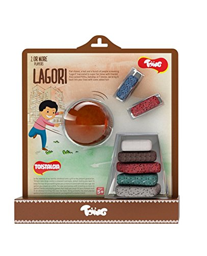Toiing Lagori Pitthu Satodiyu - Traditional Indian Outdoor Game of 7 Stones with Rubber Ball and Storage Bag