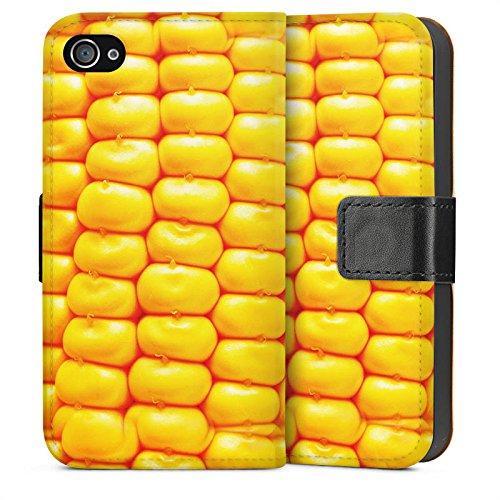 Apple iPhone 4 Housse Étui Silicone Coque Protection Maïs Grillades barbecue Nourriture Sideflip Sac