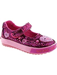 Lelli Kelly LK3010 (GW01) Purple Glitter AVA Baby Dolly Shoes -24 (UK f81240ce9b5