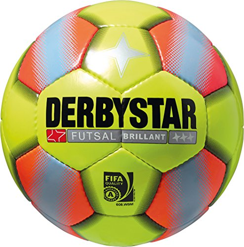 Derbystar Futsal Brillant, Gelb/Orange, 4, 1081400576