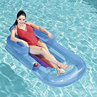 Giant Pool Floats For Adults With Cup Holder, Inflatable Pool Raft Suntan Tub, Beach Floaties Lounge,Luxury Recliner For Summer Outdoor Swimming Pool Party