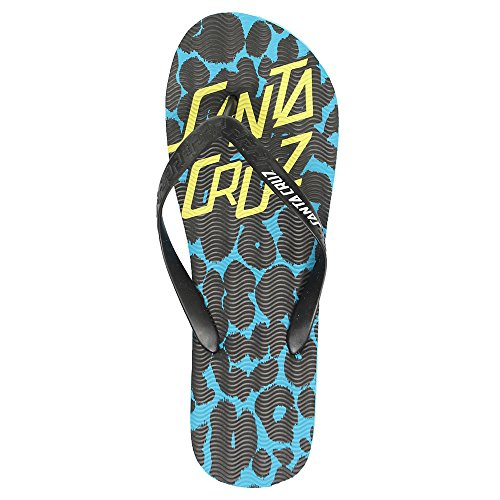 Santa Cruz Demon Dot Flip Flop Sandalen Blau, Blau - Blau - Größe: 44,5/46 (Cruz-flip-flops)
