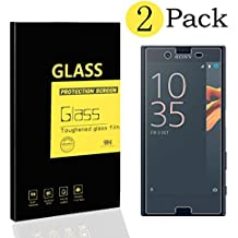 [2-Pack] Sony XPeria X Protectores de Pantalla , MENGGOOD Cristal Películas de Protección Vidrio Templado Film protectora HD Invisible para Sony XPeria X - Dureza 9H Anti-arañazos