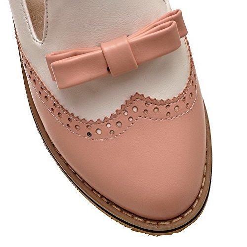 Balamasa, da donna, tacco basso, pompe per scarpe, colori assortiti Pink